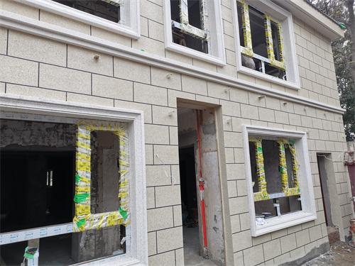 朝阳区别墅外墙水包砂涂料案例